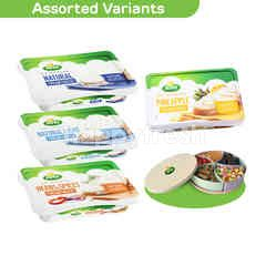 Arla 4 Cream Cheese (Assorted) and get FREE ARLA FESTIVE CANDY TRAY