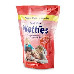 Mitu Wetties Family Pack Refill Fresh Clean Wet Wipes (120 sheets)