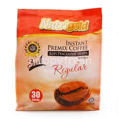 Nutrigold 3 In 1 Regulart Instant Premix Coffee (30 Sticks)