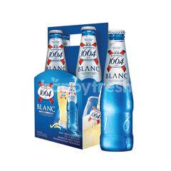 Kronenbourg 1664 Blanc Beer (COLD) (4 Bottles X 325ml) + Free 1 Kronenbourg Blanc Beer