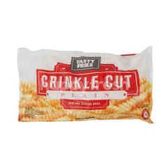Tasty Fries Plain Crinkle Cutted French Fries