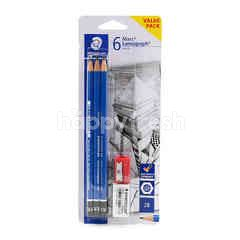 Staedtler Mars Lumograph Pencil Set (6 Pieces)