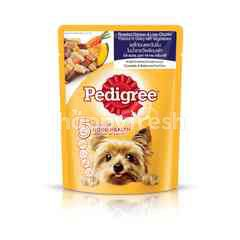 Pedigree Pouch Dog Food Adult Chicken, Chicken Liver in Gravy with Vegetable 80g Dog Wet Food
