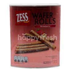 Zess Wafer Rolls Strawberry