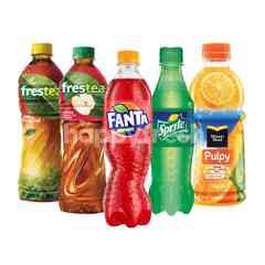 Coca-Cola Amatil Bundel Sprite, Fanta Strawberry, Frestea Apel, Frestea Jasmine and Minute Maid Pulpy Orange