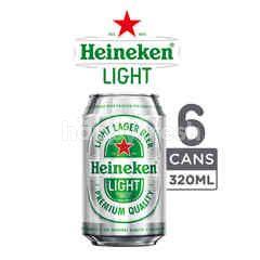 Heineken Light Bir Lager Kaleng 6 Packs