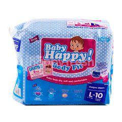 Baby Happy! Body Fit Designer Baby Diapers Size L