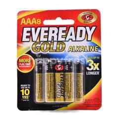 Eveready AAA Gold Alkaline Battery (8 Pieces)