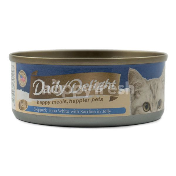 Daily Delight Skipjack Tuna White with Sardine in Jelly Cat Food