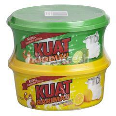 Kuat Harimau Dish Wash Paste Twin Pack - Lime Lemon