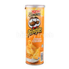 Pringles Potato Chips Cheesy Cheese