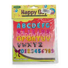 Ceria Happy Day Balon Helium Huruf D