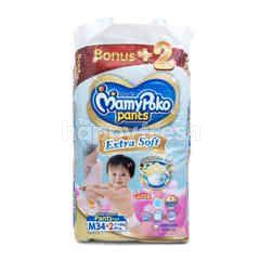 MamyPoko Popok Celana Ekstra Lembut Ukuran M untuk Anak Perempuan dengan Berat Badan 7-12kg