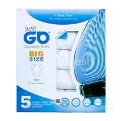 Just Go White Disposable Panties Men XXXL (5 pieces)