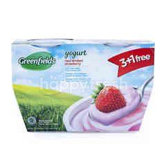 Greenfields Yogurt Rasa Stroberi 3+1 Free