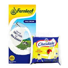 Fonterra Chesdale Cheddar and Fernleaf Full Cream Milk Package