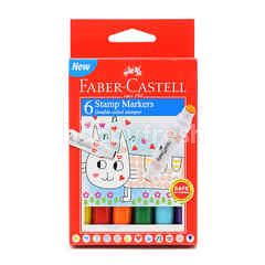 FABER CASTELL Stamp Markers (6 Pieces)