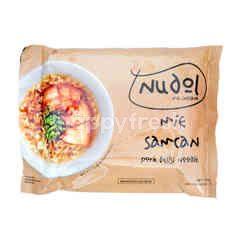 Nudol Mie Instan Dengan Daging Samcan