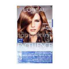 L'Oreal Excellence Fashion Ultra Lights Pewarna Rambut 03 Abu Coklat Terang