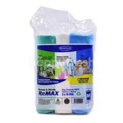Sekoplas M Sized Strong And Sturdy Remax Semi-Transparent Garbage Bags (3X 15 Bags)