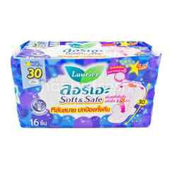 LAURIER Soft & Safe Night Wings 30 cm 16 Pcs. (Sanitary Napkins)