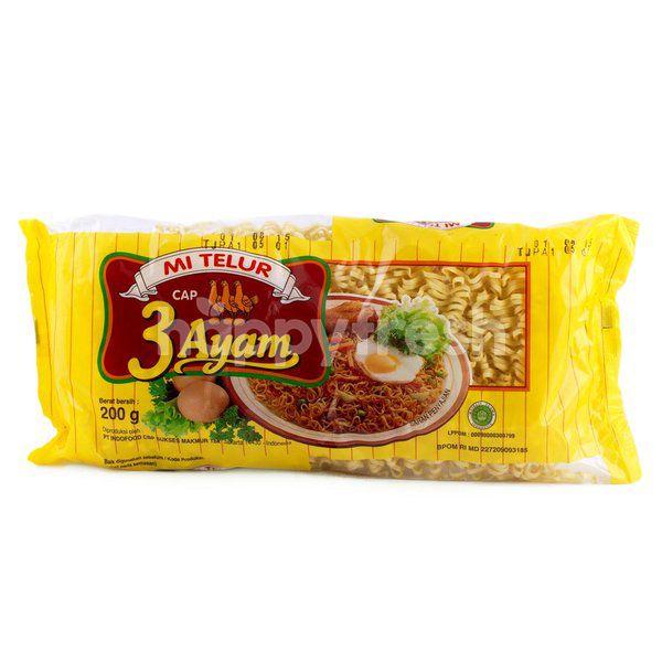 Indofood Cap 3 Ayam Egg Noodles