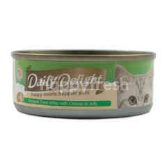Daily Delight Skipjack Tuna White with Cheese in Jelly Cat Food