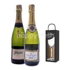 Freixenet Cuvee D.S + Vintage Reserva Get Riedel Flute Glass Free