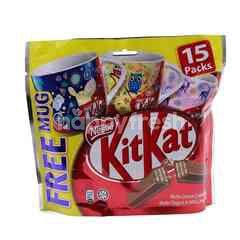 Nestle Kit Kat Wafer Fingers In Milk Chocolate (15 Packs)