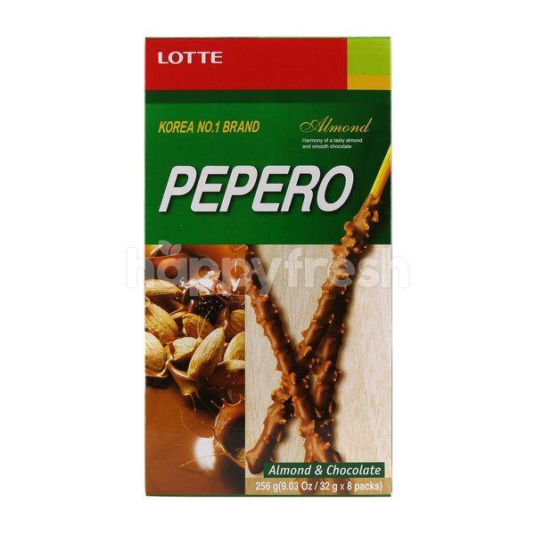 Lotte Pepero Almond & Chocolate (8 Packs)