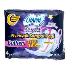 Charm Body Fit Night Gathers 42cm (4) Sanitary Pad