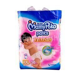 MamyPoko Extra Soft Baby Diaper Pants Size XXL (38 pieces)