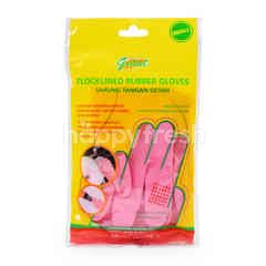 Giant Flocklined Rubber Gloves