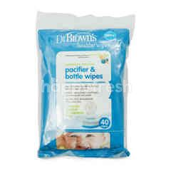 Dr Brown's Naturally Cleaning Pacifier & Bottle Wipes 0m+