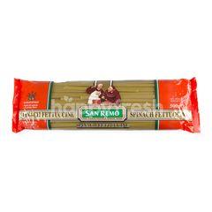 ซาน รีโม เส้นพาสต้าผักขม เฟตตูชินี่ ชนิดแบน