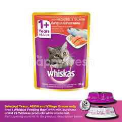 Whiskas Pouch Cat Wet Food Adult Fresh Fish Mackerel & Salmon 85G Cat Food