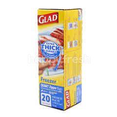Glad Freezer Quart Zipper Bag (20 Bags)