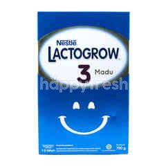 Lactogrow Powdered Milk for Kids Growth 1-3 Years Old with Honey Flavor