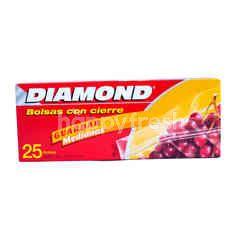 Diamond Zipper Bags Storage Medium