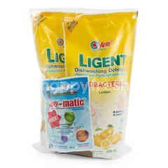 Yuri Ligent Antibacterial Dishwashing Detergent Lemon