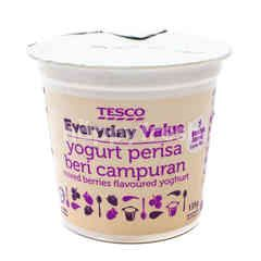 Tesco Everyday Value Mixed Berries Flavoured Yoghurt (Low Fat)