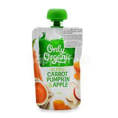 Only Organic Carrot, Pumpkin & Apple Puree