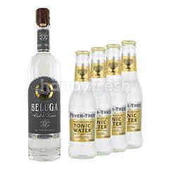 Beluga Gold Line 700ml + 2 x Fever Tree Indian Tonic Water