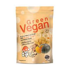 Green Vegan Organic Mushroom Snack With Japanese Pumpkin And Perilla Seeds