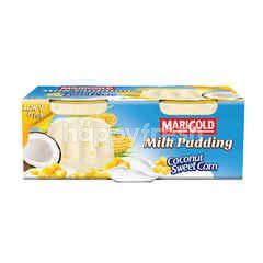 Marigold Coconut Sweet Corn Milk Pudding