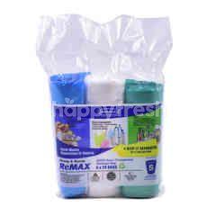 Sekoplas Semi Transparent Garbage Bags (60 Bags)