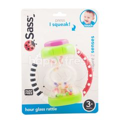 Sassy Hour Glass Rattle 3+ Months