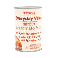 Tesco Everyday Value - Sardin - Tomato Sauce - Chilli