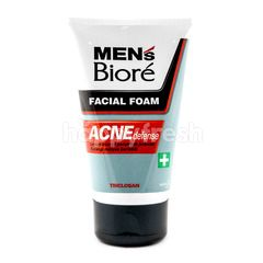 Biore Men's Facial Foam Acne Defense Face Wash