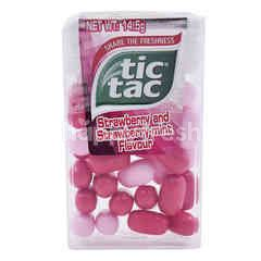 Tic Tac Strawberry And Strawberry Mint Flavour Candy